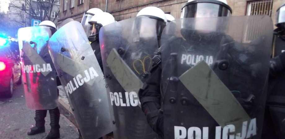demonstracja policjka